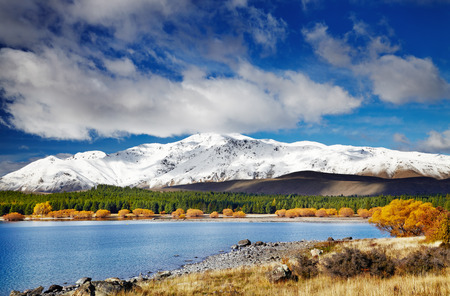 Mountain landscape, Lake Tekapo, New Zealand photo