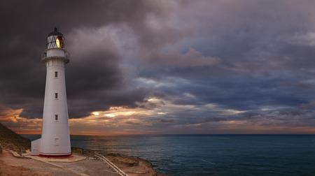 Castle Point Lighthouse, sunrise, Wairarapa New Zealand photo