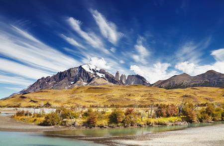 Torres del Paine National Park, Patagonia, Chile Archivio Fotografico