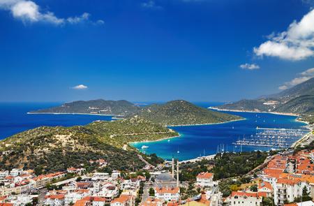 Town Kas, Mediterranean Coast, Turkey 스톡 콘텐츠