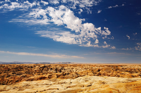 extraordinary: Extraordinary Moon Landscape in Namib Desert near Swakopmund, Namibia Stock Photo