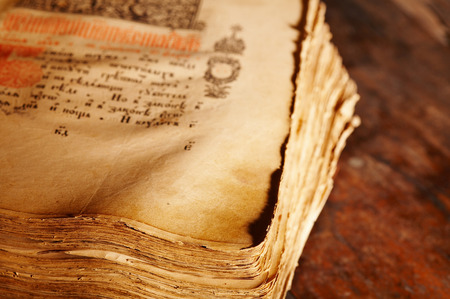 ancient books: Ancient book, shallow depth of field