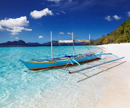 Tropical beach, South China See, El-Nido, Philippines photo