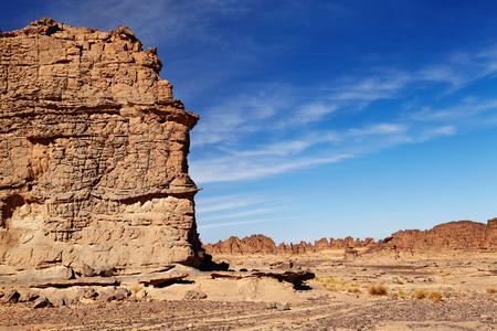 Rocks of Sahara Desert, Tassili N'Ajjer, Algeria Фото со стока - 117017488