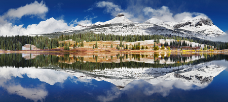 san juan: Molas Lake, San Juan Mountains, Colorado, USA Stock Photo