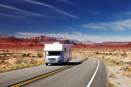 Traveling by motorhome, American Southwest, Utah Standard-Bild