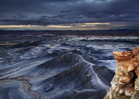 moonscape: Moonscape Overlook in Utah desert, USA