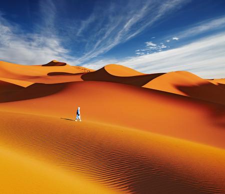 Sand dunes of Sahara Desert, Algeria Stock Photo