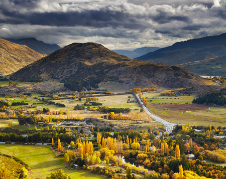 Autumn landscape, near Queenstown, New Zealand