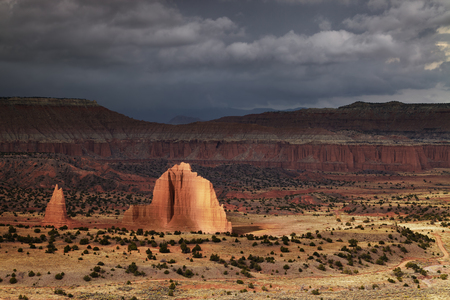 Cathedral Valley, Capitol Reef national park, Utah, USA