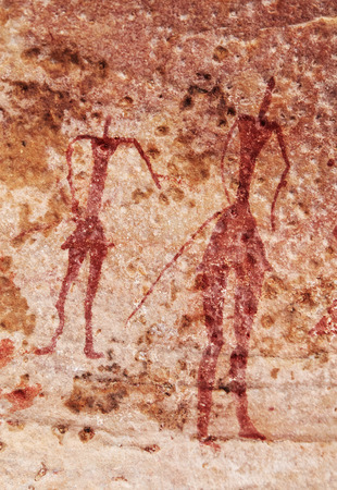 Famous prehistoric rock paintings of Tassili NAjjer, Algeria