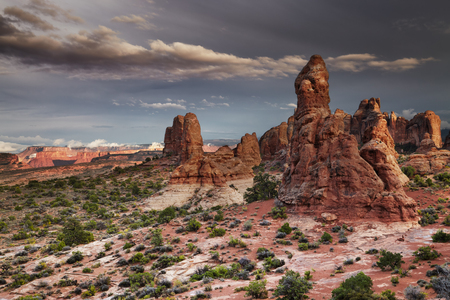 Sunset in Arches National Park, Utah, USA