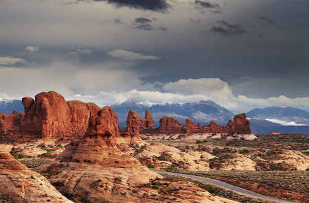 The Windows Section, Arches National Park, Utah, USA