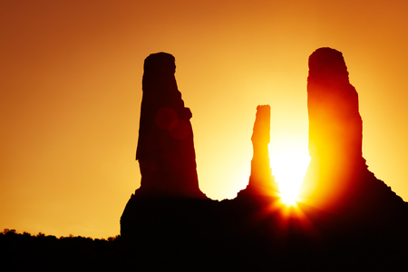 Sunset in Monument Valley, Arizona, USA