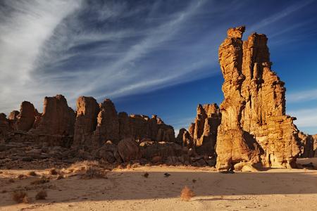 Rocks of Sahara Desert, Tassili N'Ajjer, Algeria Фото со стока - 115069117