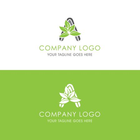 This logo is inspired by leaves, Has a A modified alphabet shape, leaves become additional ornaments to beautify and show the natural side of this logo
