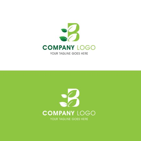 This logo is inspired by leaves, Has a B modified alphabet shape, leaves become additional ornaments to beautify and show the natural side of this logo