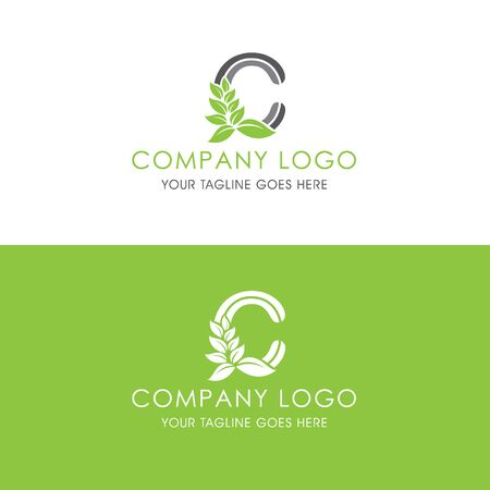 This logo is inspired by leaves, Has a C modified alphabet shape, leaves become additional ornaments to beautify and show the natural side of this logo