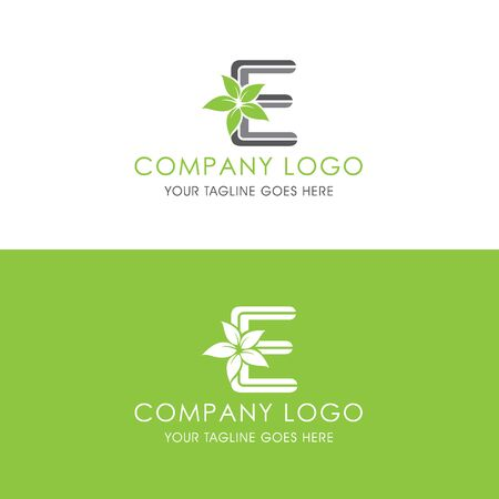 This logo is inspired by leaves, Has a E modified alphabet shape, leaves become additional ornaments to beautify and show the natural side of this logo