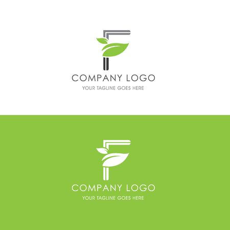 This logo is inspired by leaves, Has a F modified alphabet shape, leaves become additional ornaments to beautify and show the natural side of this logo