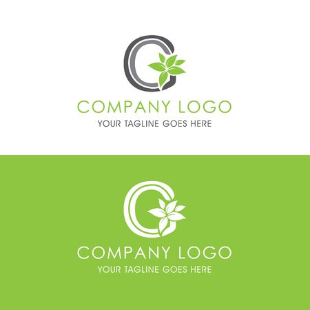 This logo is inspired by leaves, Has a G modified alphabet shape, leaves become additional ornaments to beautify and show the natural side of this logo