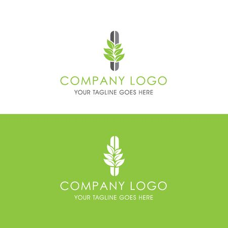 This logo is inspired by leaves, Has a I modified alphabet shape, leaves become additional ornaments to beautify and show the natural side of this logo