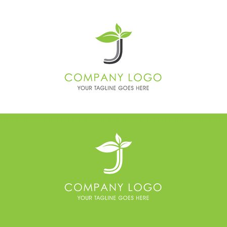 This logo is inspired by leaves, Has a J modified alphabet shape, leaves become additional ornaments to beautify and show the natural side of this logo