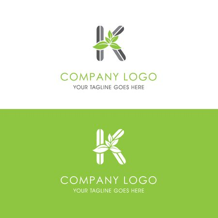 This logo is inspired by leaves, Has a K modified alphabet shape, leaves become additional ornaments to beautify and show the natural side of this logo