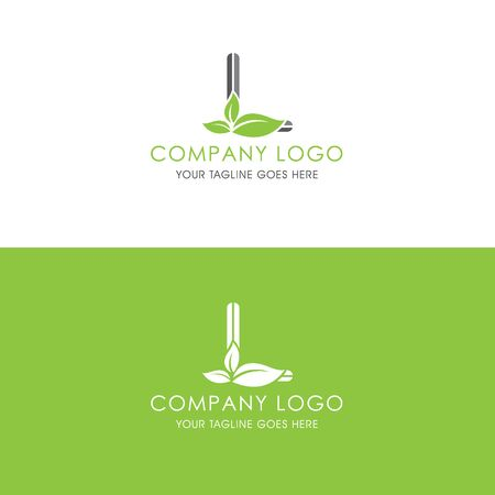 This logo is inspired by leaves, Has a L modified alphabet shape, leaves become additional ornaments to beautify and show the natural side of this logo