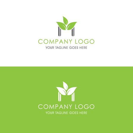 This logo is inspired by leaves, Has a M modified alphabet shape, leaves become additional ornaments to beautify and show the natural side of this logo