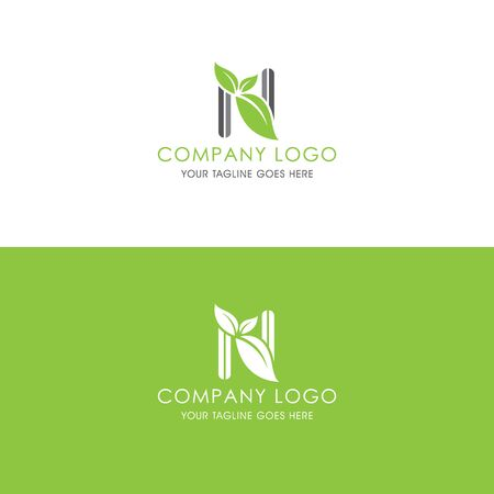 This logo is inspired by leaves, Has a N modified alphabet shape, leaves become additional ornaments to beautify and show the natural side of this logo