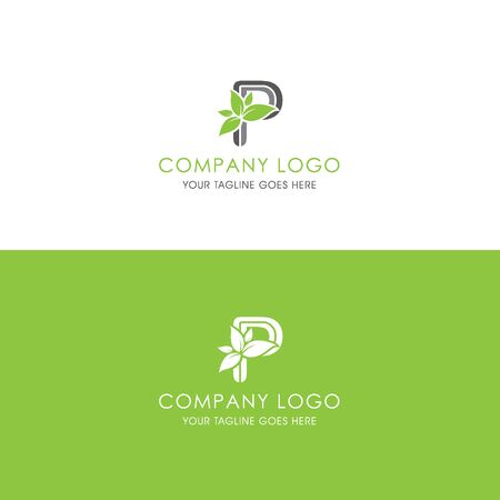 This logo is inspired by leaves, Has a P modified alphabet shape, leaves become additional ornaments to beautify and show the natural side of this logo