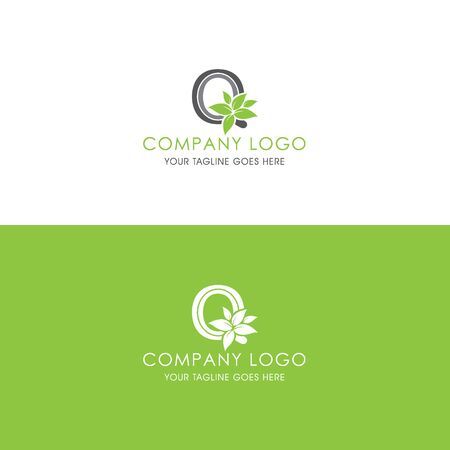 This logo is inspired by leaves, Has a Q modified alphabet shape, leaves become additional ornaments to beautify and show the natural side of this logo