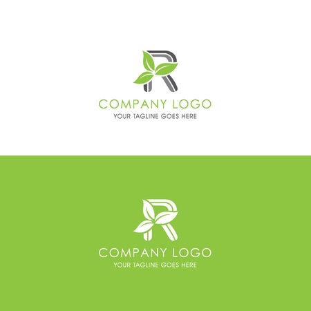 This logo is inspired by leaves, Has a R modified alphabet shape, leaves become additional ornaments to beautify and show the natural side of this logo