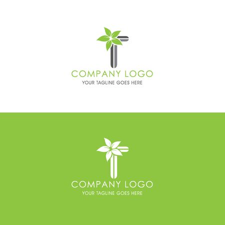 This logo is inspired by leaves, Has a T modified alphabet shape, leaves become additional ornaments to beautify and show the natural side of this logo