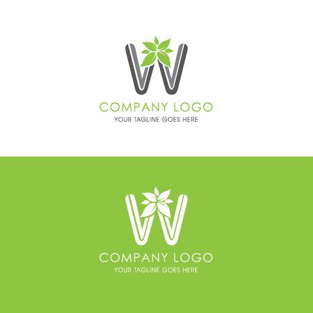 This logo is inspired by leaves, Has a W modified alphabet shape, leaves become additional ornaments to beautify and show the natural side of this logo