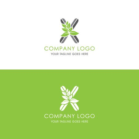 This logo is inspired by leaves, Has a X modified alphabet shape, leaves become additional ornaments to beautify and show the natural side of this logo