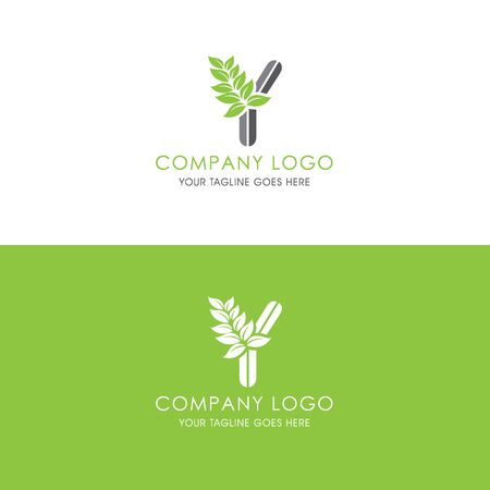 This logo is inspired by leaves, Has a Y modified alphabet shape, leaves become additional ornaments to beautify and show the natural side of this logo