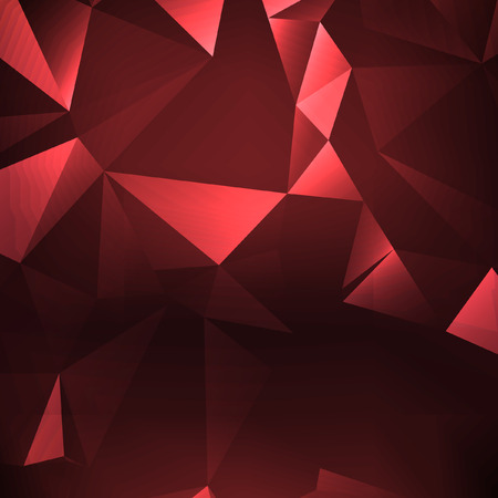 consist: Red polygonal illustration, which consist of triangles. Triangular design for your business.