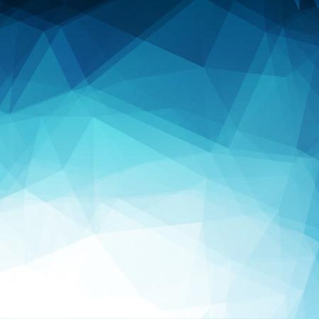 diamond shaped: Blue geometric rumpled triangular. Illustration graphic background. Vector illustration. Copy space.