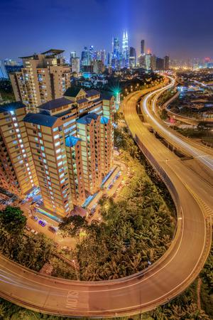 side view Kuala Lumpur from flat Berembang on the night