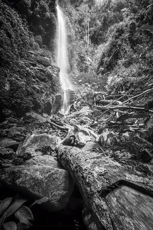 sg: hidden places waterfall at sg  Khoi Royal Belum Stock Photo