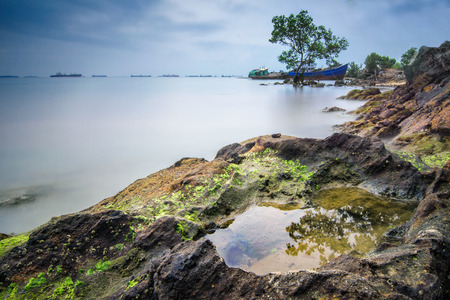 amazing beach at Batam Indonesia on long exposure