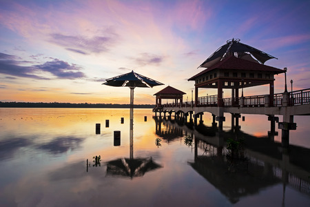 amazing sunrise at fisherman jetty