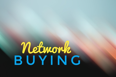 purchasing power: concept light motion with word NETWORK BUYING Stock Photo