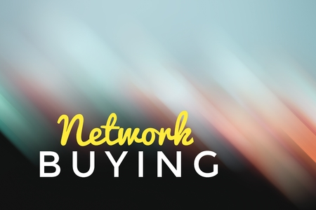 concept light motion with word NETWORK BUYING Stock Photo