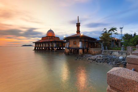 HUSSAIN AL MOSQUE Kuala Perlis on the Floating Mosque Stock fotó