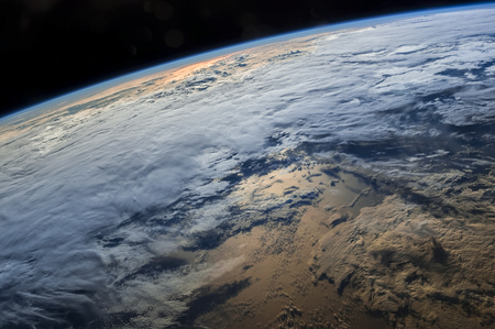 Earth from space with dramatic view. The elements of this image furnished by NASA