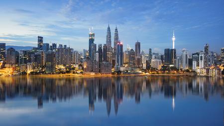 reflection of Kuala Lumpur skyline
