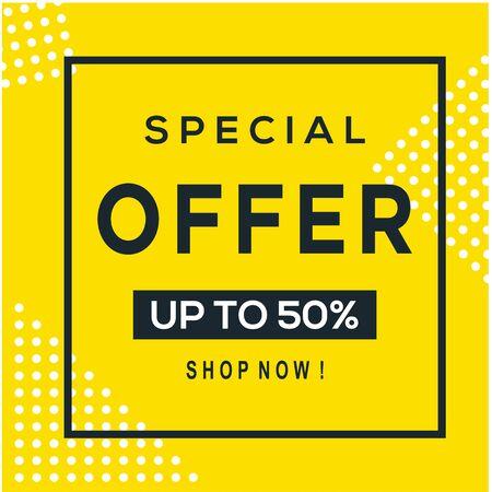 Sale banner template design, Big sale special offer. Vector illustration. - Vector